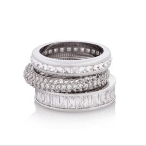 Henri Bendel • Silver Stacked Rings, 5